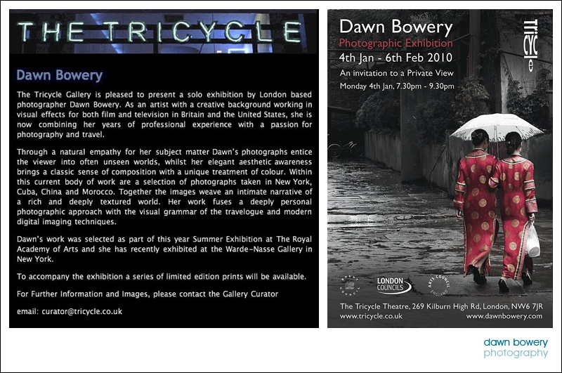 dawn bowery Tricycle Gallery, London