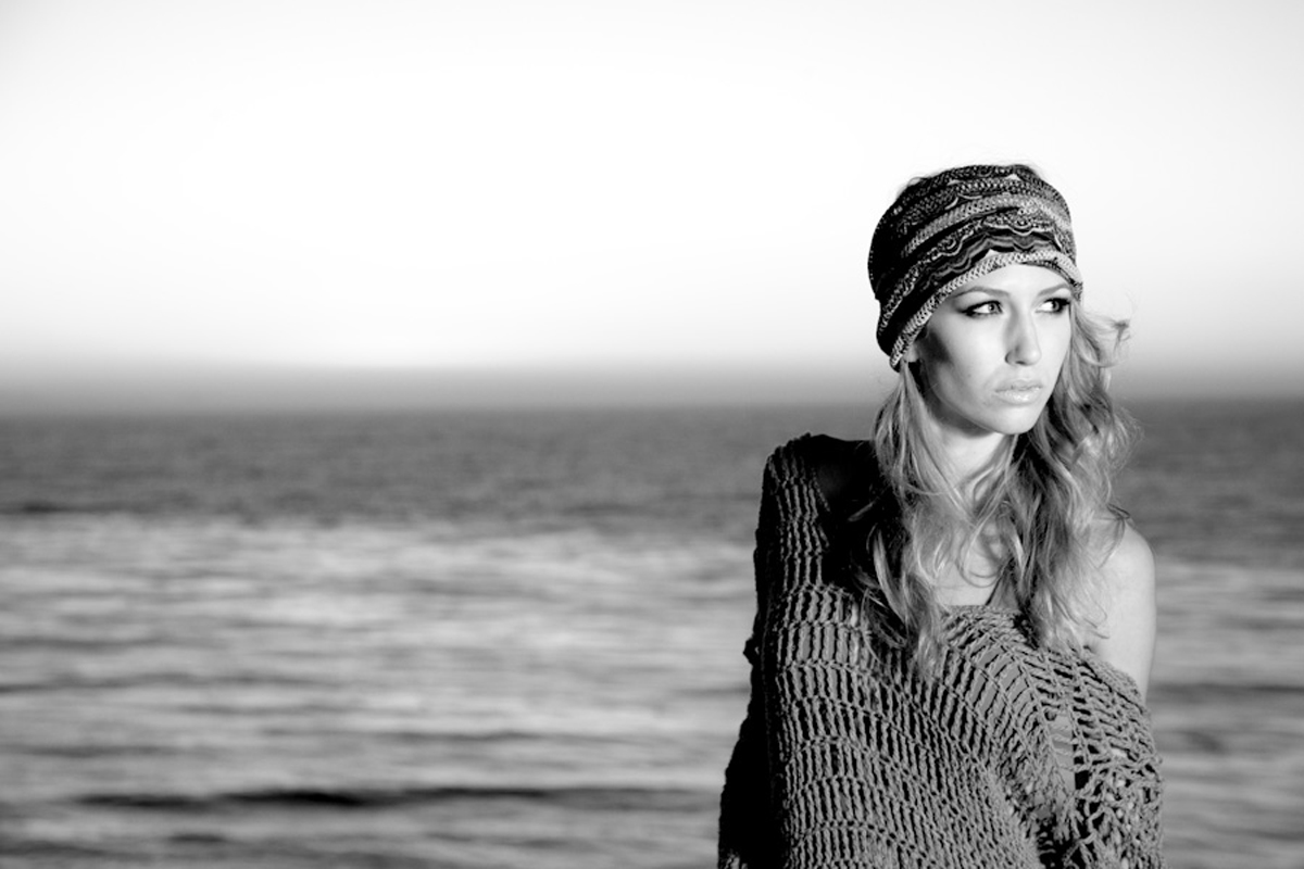 los angeles sunset shoot hat black and white