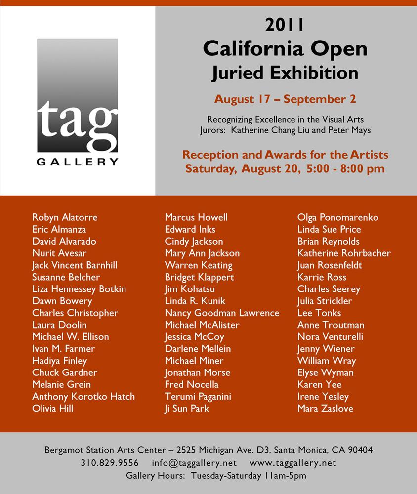 tag gallery 2011 california oopen exhibitors