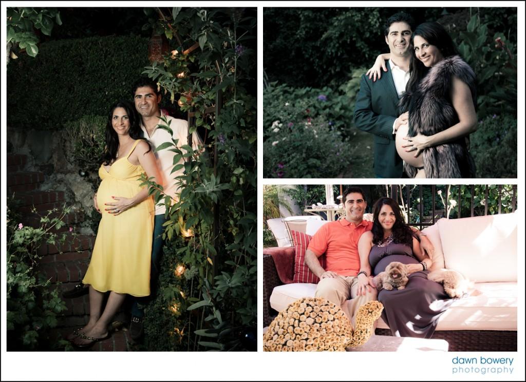 los angeles creative maternity shoot garden