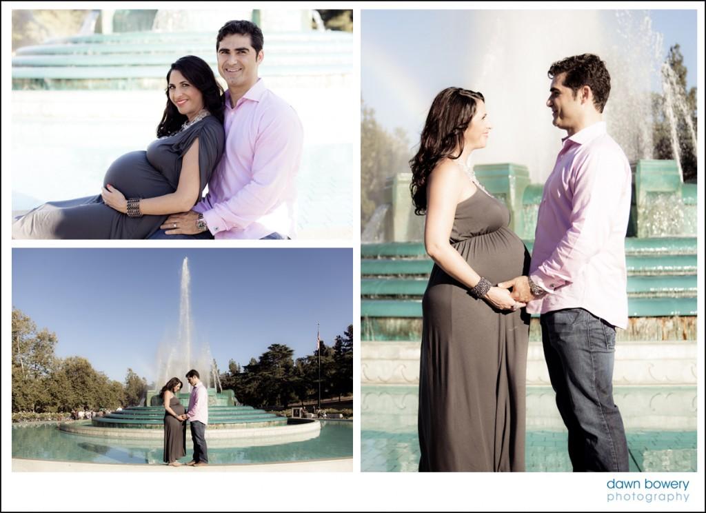 los angeles creative maternity portrait fountain