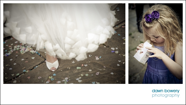 london wedding photographer girl with confetti