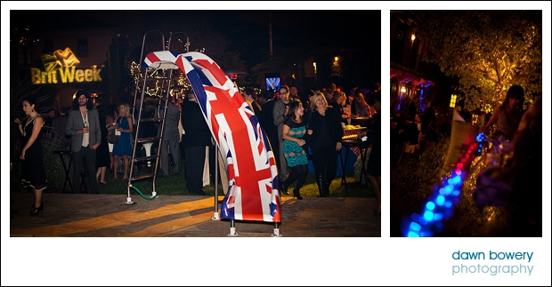 Los Angeles Corporate Event Photography britweek flag
