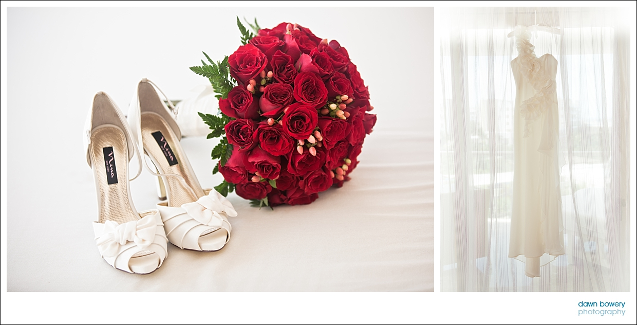 destination wedding photographer bouquet and shoes