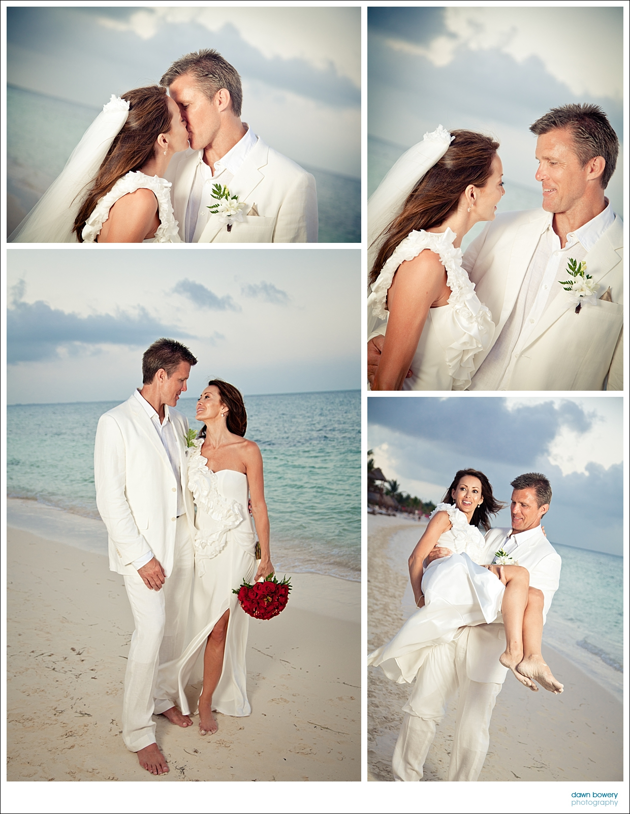 destination wedding photographer couple beach