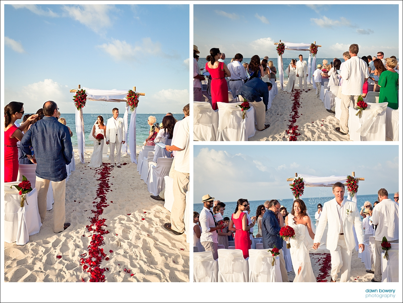 destination wedding photographer aisle roses