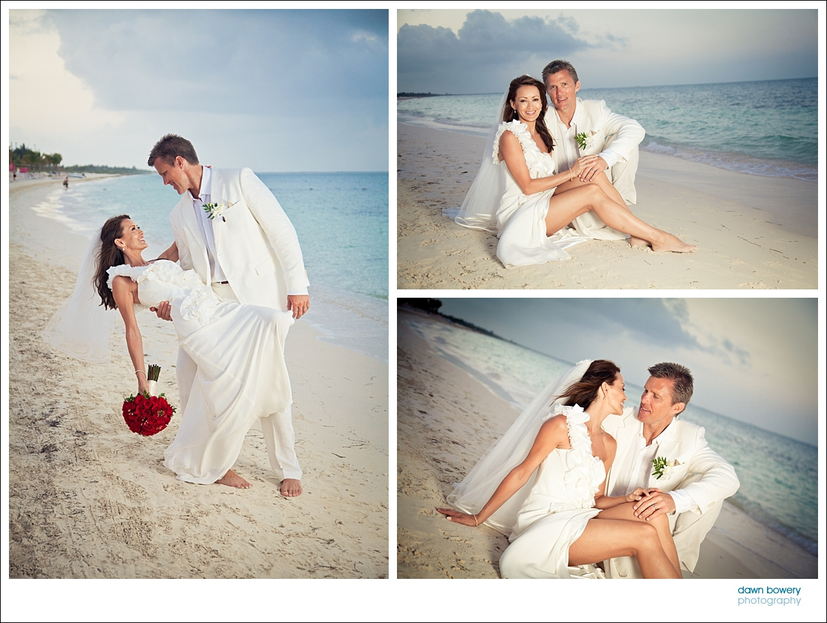 destination wedding photographer couple sunset beach
