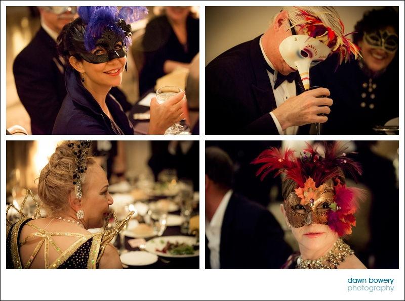 los angeles corporate event guests dinner masks