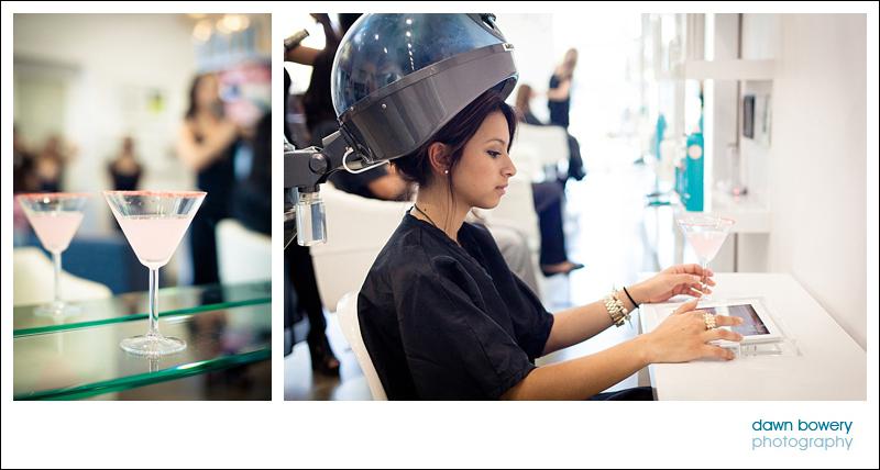 Los Angeles Editorial Photographer Hair salon  salon nuuvo cocktails