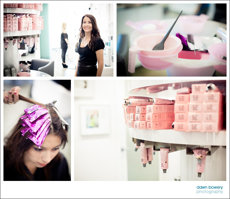 Los Angeles Editorial Photographer Hair salon -salon nuuvo colorist