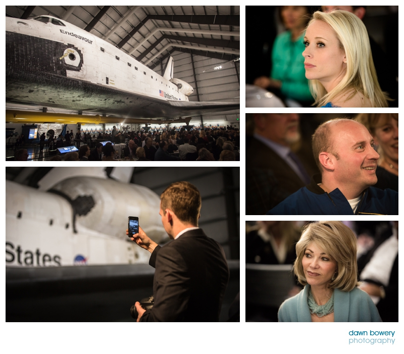 los angeles event photographer buzz aldrin audience at the endeavour