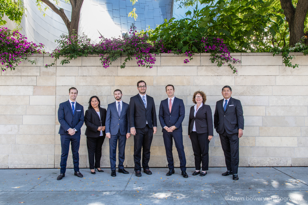 downtown los angeles corporate group portrait