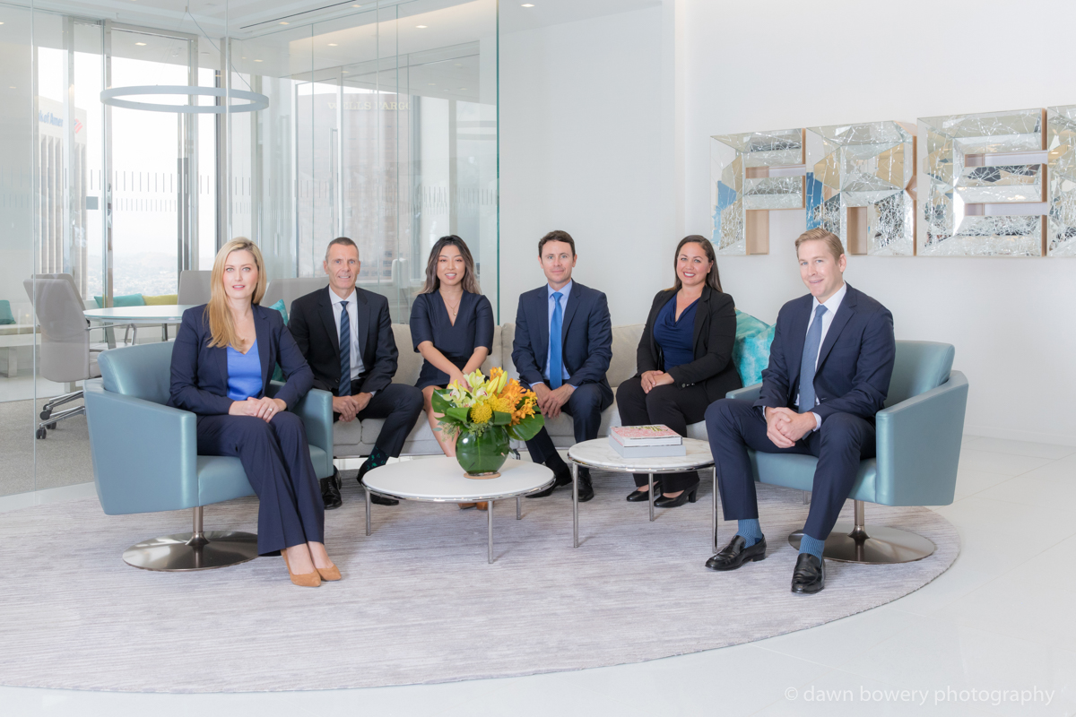 los angeles corporate group portrait