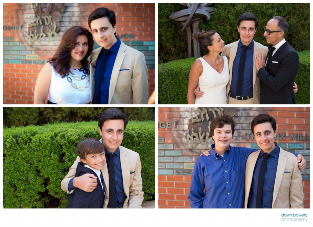 Los Angeles bar mitzvah photographer family group