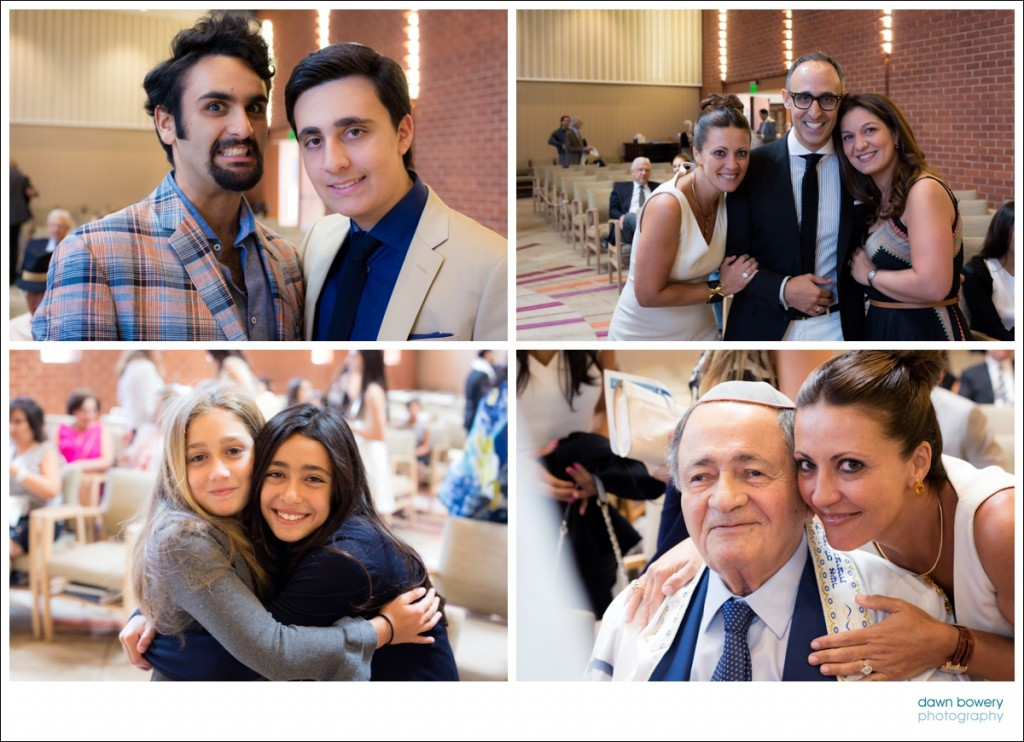 LA bar mitzvah photographer friends and family