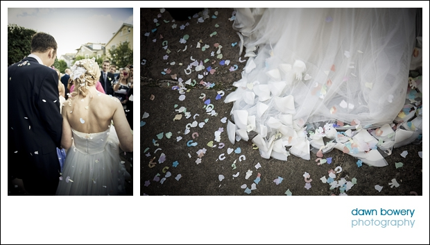 london wedding photographer confetti