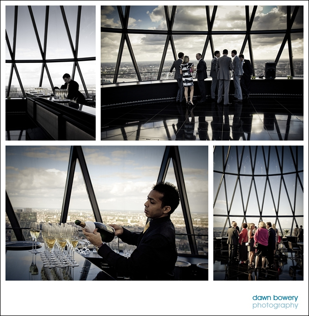 london wedding photographer gherkin views