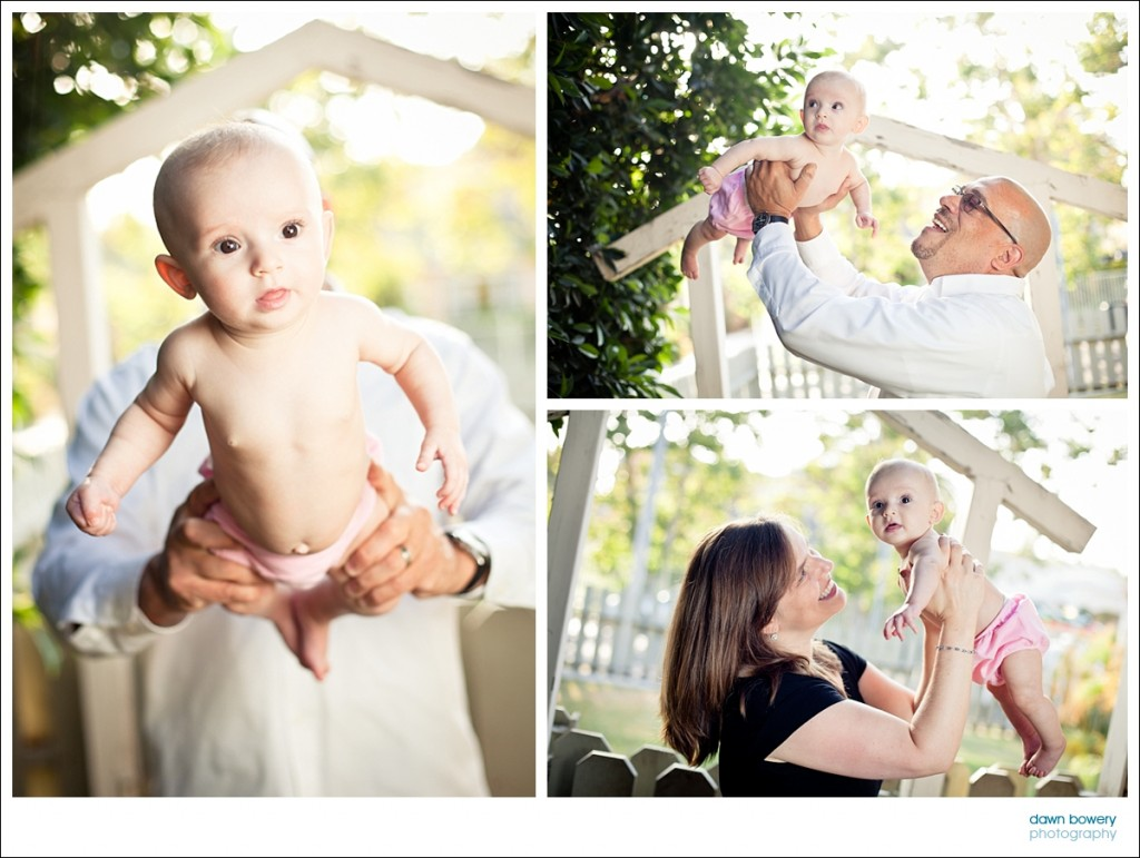 los angeles family portrait photographer flying baby