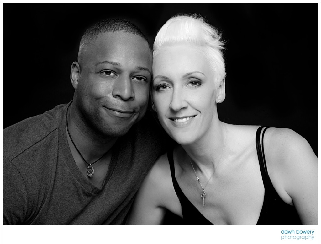 Los angeles family studio portrait photographer black and white