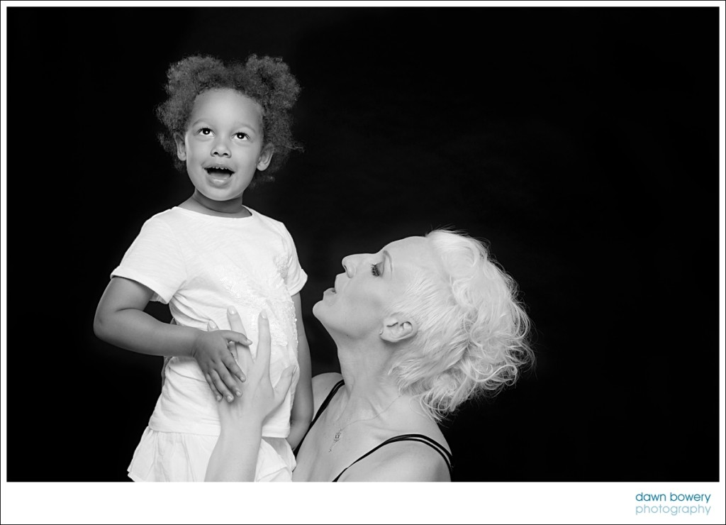 Los Angeles mother daughter studio portrait photography