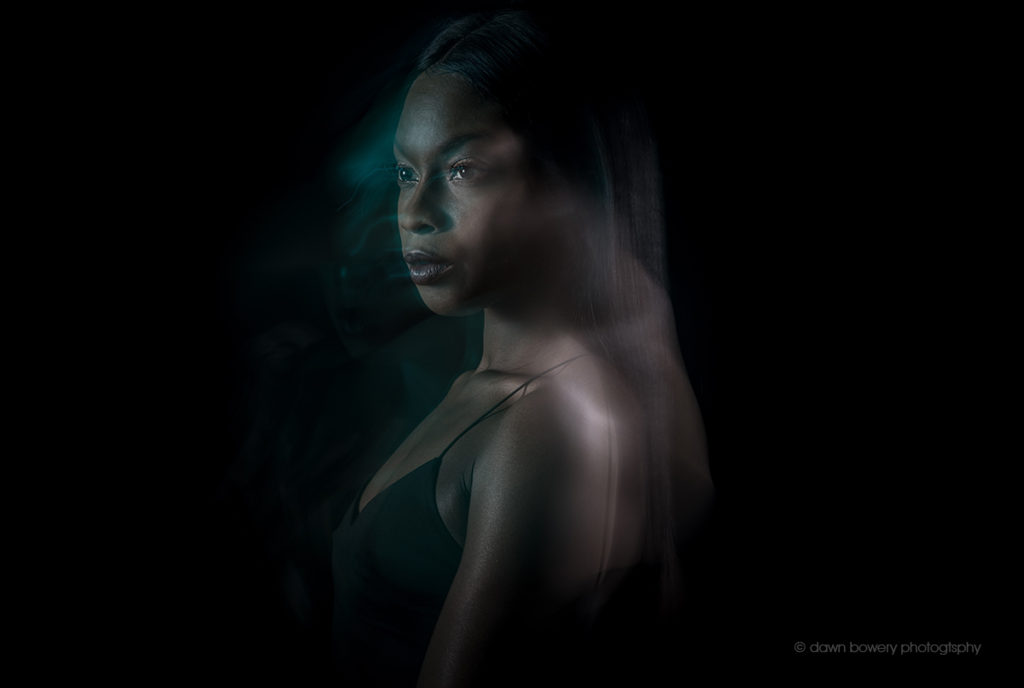 movement portrait, creative portrait, dark, moody portrait